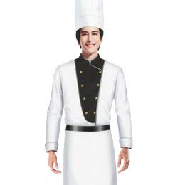 厨师 餐饮工作服装 饭店服务员工作服 餐厅服务员服装 餐厅服务员工作服