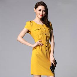 连衣裙 定做服装 量身订做 服装订做 定做女式工作服 订做夏季工作服