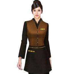 服务员 定做员工工作服 订做员工工作服 定做工作服 职业工作服 职业工装
