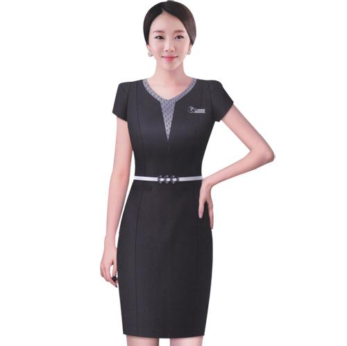 职业装 员工制服 工作服装 定做连衣裙