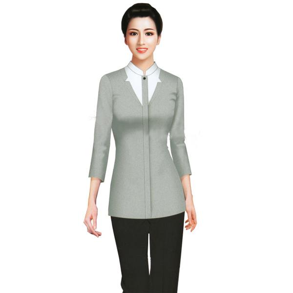 衬衣 订做衬衫工作服 成都服务员服装定制 成都服务员服装订做